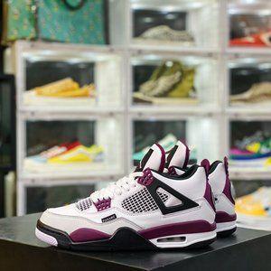 Air Jordan 4 Retro PSG AJ4 Joe 4 Paris Full-top layer white and purple The shoe